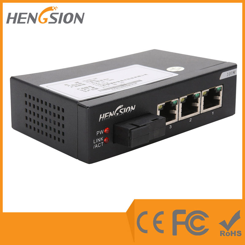 Wall Mount 4 Port Enterprise Network Switch 5.08mm Industrial Terminal